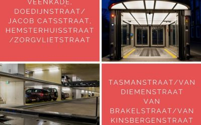 Brandveiligheid vijf parkeergarages