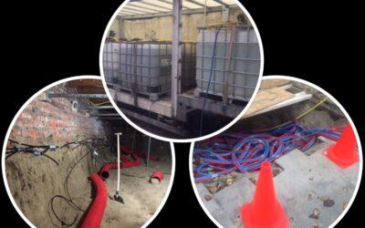 Nieuwe kelder met waterglasinjectie