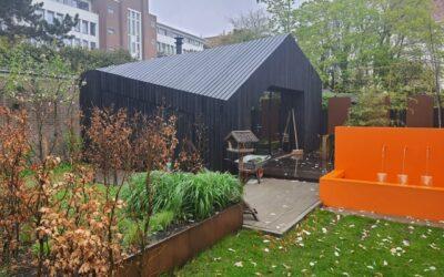 Het nieuwe tuinhuis